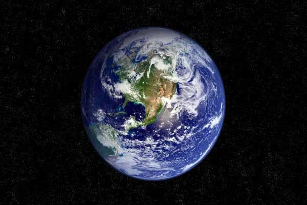 земля, вращаться, обратная, сторона