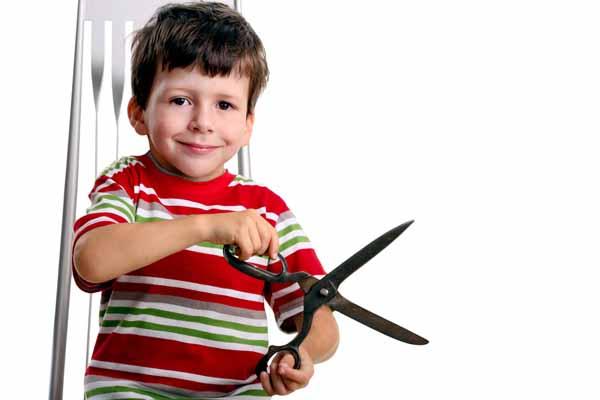 бегать, ножницы