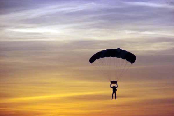 парашют, пассажиры, самолет