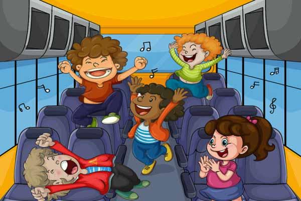 автобус, разговор, громко