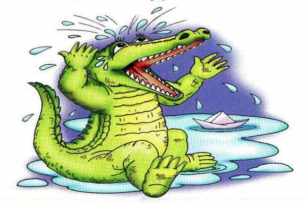 крокодил, слезы
