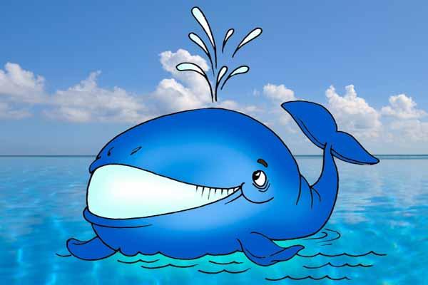 кит, фонтан