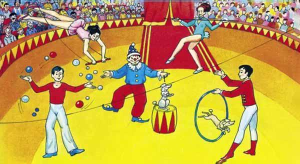 цирк, название, получать
