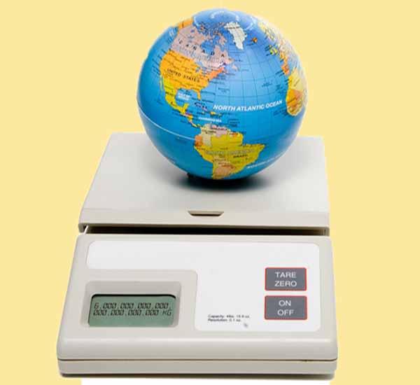 земля, вес