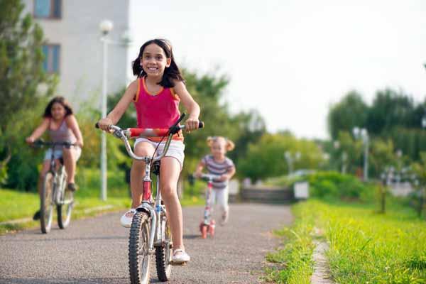 велосипед, падать